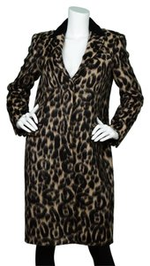 Burberry Leopard Fuzzy Jacket Coat
