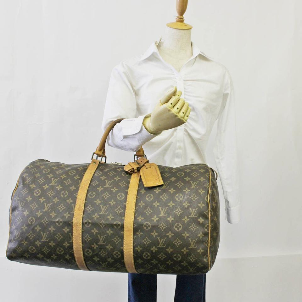 louis vuitton sale keepall 55 weekend travel travel bag weekend travel bags on sale. Black Bedroom Furniture Sets. Home Design Ideas