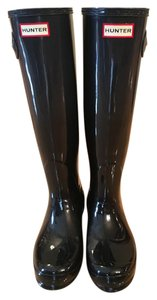 Hunter Black Gloss Boots