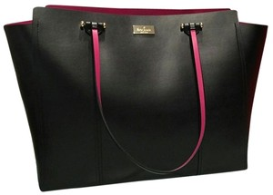 Kate Spade Books School Tote in Pink & Black