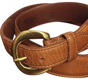 Dooney & Bourke Dooney & Bourke Leather Signature Brass Buckle Belt British Tan