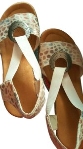 Rieker Natural white with bluest color Wedges