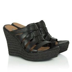 UGG Australia Black Wedges