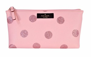 Kate Spade Little Shiloh Holiday Glitter Dot Cosmetic Bag Pencil Pouch NWT