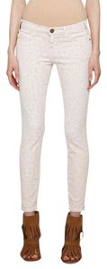 Current/Elliott Super Skinny Stretch Leopard Ankle Skinny Jeans-Light Wash