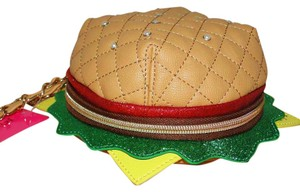 Betsey Johnson Nice Buns Cheeseburger Wristlet in Multi