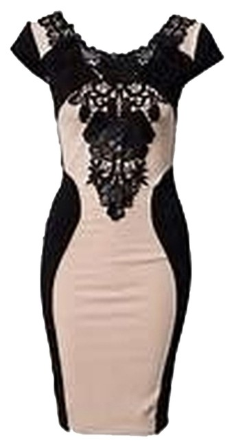 Preload https://img-static.tradesy.com/item/2025068/tan-and-black-eva-bodycon-short-night-out-dress-size-6-s-0-0-650-650.jpg