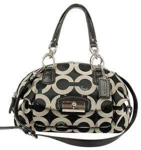 Coach Satchel in Black gray
