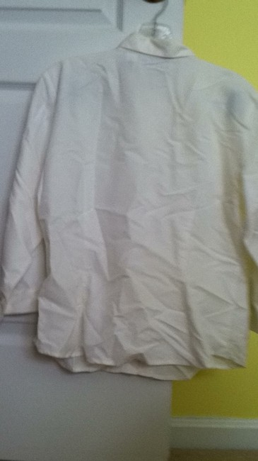 Liz Claiborne Button Down Shirt white
