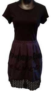 Anthropologie short dress Black and Blue Leifnotes Cotton Lace on Tradesy