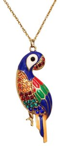 Other Parrot Rhinestone Enamel Cloisonne Crystal Long Chain