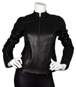 MCQ by Alexander McQueen Leather Leather Motorcycle Jacket