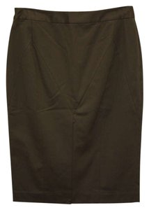 Ports 1961 Woven Elastane Pencil Designer Skirt olive green