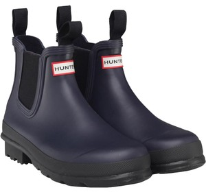 Hunter Rain Chic Navy Boots