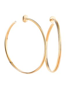 Cartier Cartier Tri-Color 18k Gold Trinity Hoop Earrings