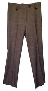 Saint Laurent Straight Pants Brown and white tweed