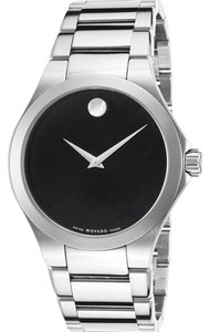 Movado Movado Classic Museum Steel Quartz Black 36mm Watch 84 G1 1897