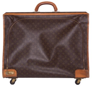 Louis Vuitton Brown & Tan Travel Bag