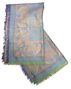 Saint Laurent Over-Sized Paisley Scarf