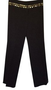 Cambio Straight Pants Dark brown