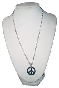 Handmade Handmade Blue Peace Sign Stainless Steel 18