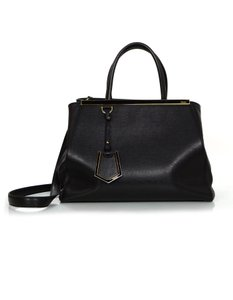 Fendi 2jours Tote Leather Satchel in black