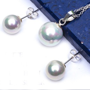 9.2.5 Stunning pearl pendant and earrings set free chain
