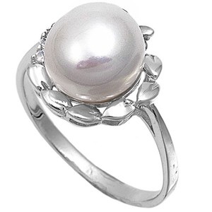 9.2.5 Beautiful large pearl cocktail ring size 9