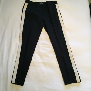 Vince Tuxedo Skinny Pants Black with white stripe
