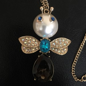 Betsey Johnson NEW Bug Pendant Necklace
