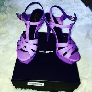 Saint Laurent Purple Platforms
