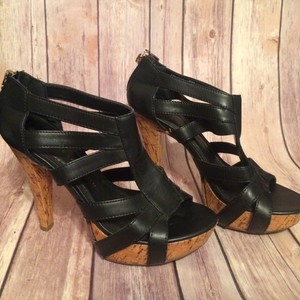 Chinese Laundry Zip Up black and Tan Pumps