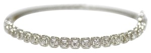 Other 14K White Gold 1.04Ct Diamond Bangle Bracelet 10.4Grams 7