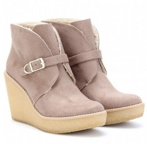 Stella McCartney Vegan Sherpa Tan Boots