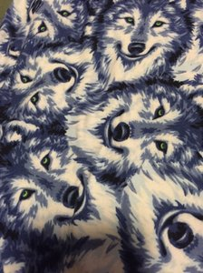 LuLaRoe Wolf Wolves Blue White Leggings