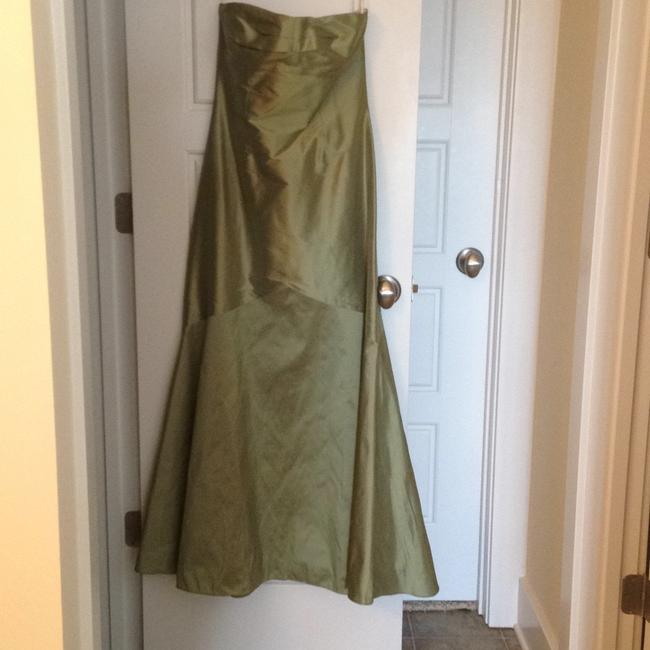 Item - Sage Green Silk Sweetheart Trumpet Gown Formal Bridesmaid/Mob Dress Size 2 (XS)