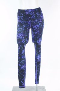 Lululemon Wunder Under Pant Roll Down Floral Sport Backdrop Iris Flower