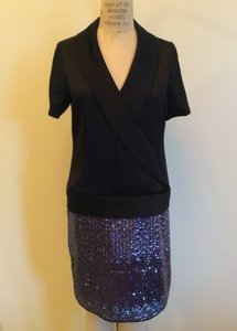 Behnaz Sarafpour Silk Chic Sequin Dress