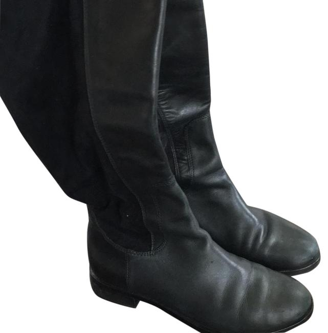 Item - Black Leather Boots/Booties Size US 7 Regular (M, B)