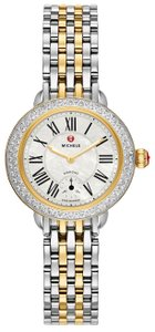 Michele NEW Serein 12 Diamond Two Tone Gold MWW26A000003 Ladies Watch