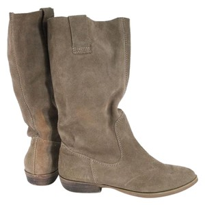 Steve Madden Taupe Suede Midcalf Boots
