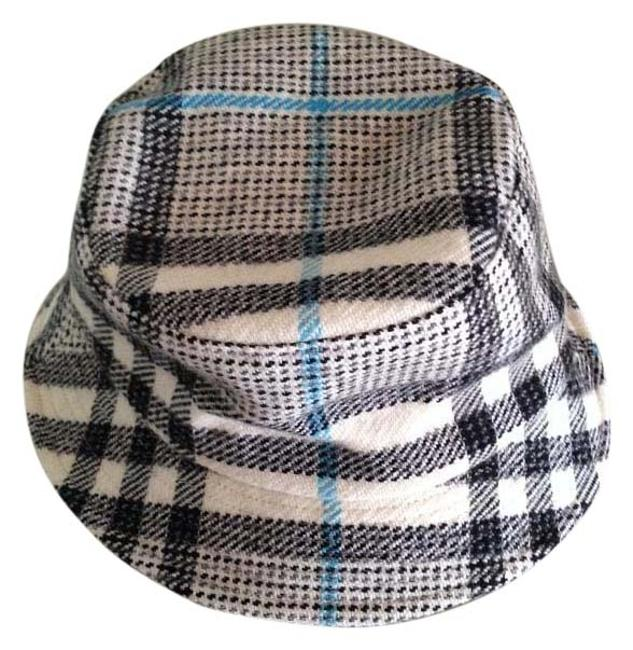 Item - Black White and Blue Wool Hat