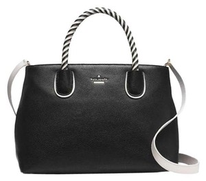 Kate Spade Woodside Bodie Satchel in Black Cement