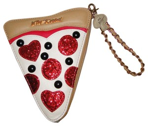 Betsey Johnson Pizza Color Wristlet in Multi