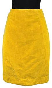 Maeve Corduroy Lined Pencil Skirt Yellow