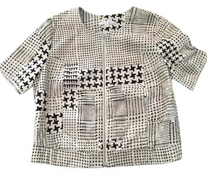 CAbi Checkered Chic Crop Top Fall Comfortable Motorcycle Jacket