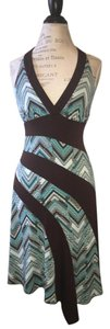 La Belle short dress Blue, brown, teal on Tradesy