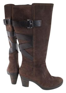 Clarks Artisan Brown Leather Knee High Boots