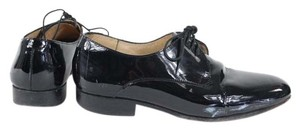 Dieppa Restrepo Black Patent Leather Lace Up Oxford Flats