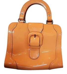 Marni Buckle Patent Leather Leather Baguette